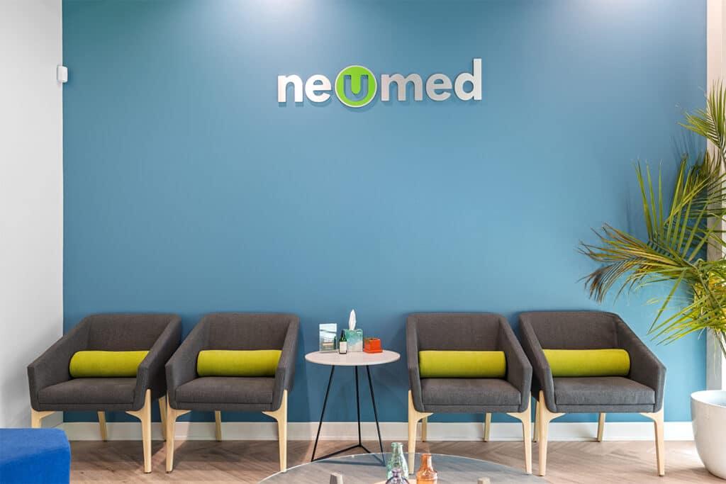 NeuMed Modern Urgent Care Waiting Area